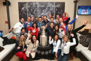 Sochi 2014 USA House Staff with the Stanley Cup