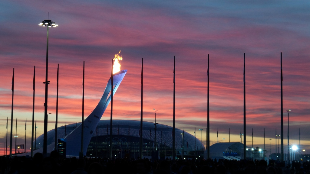 The view of the torch at sunset from the USA House. Costal Sochi was absolutely beautiful and we had amazing weather the entire time except for one rainy day - which was actually pleasantly cozy.