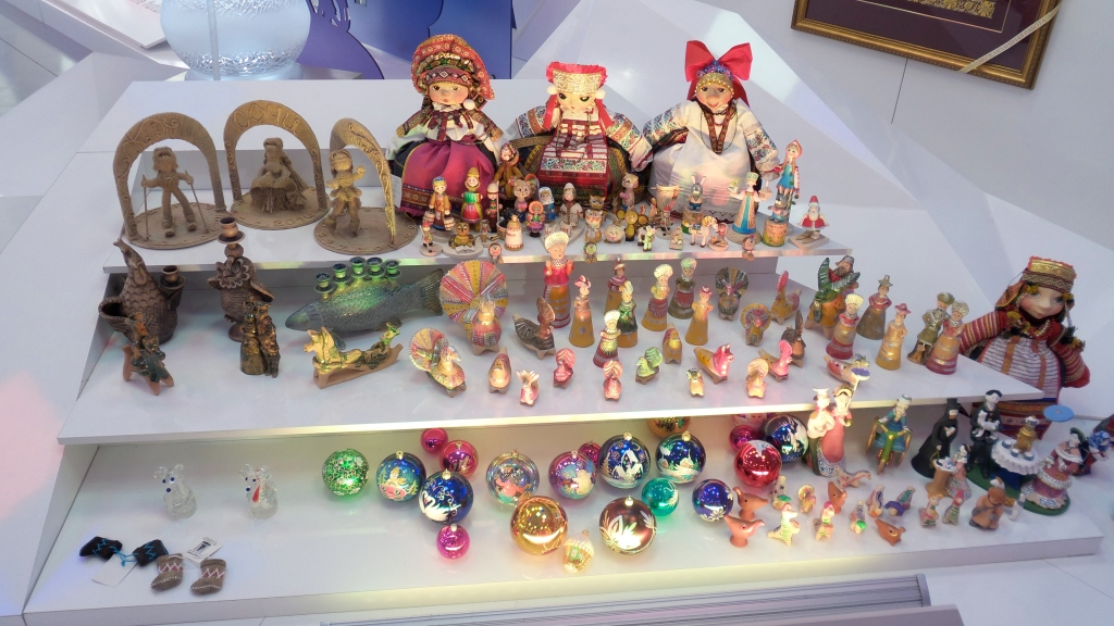 The Costal Cluster had a Cultural Center that was amazing! So many displays about the history of Russia and it's different regions. These are some of the trinkets in one of the displays.