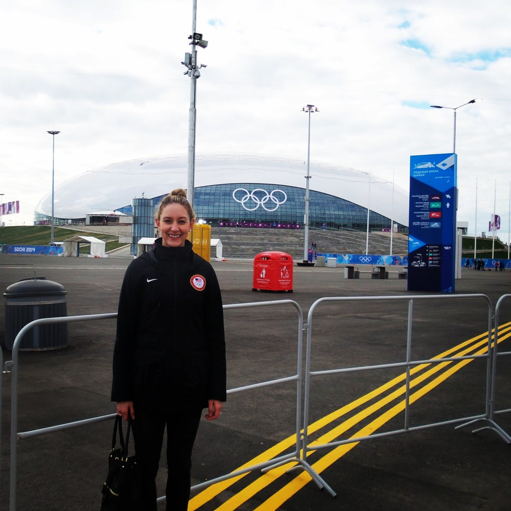 Me in the Olympic Park with the Bolshoy Stadium in the background.