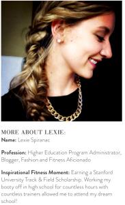 Blogger Lexie Spiranac